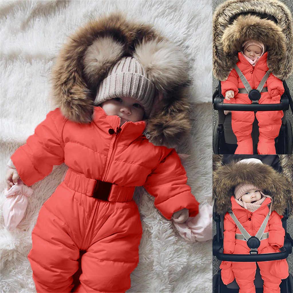 Mode Baby Romper Infant Baby Junge Mädchen Strampler Jacke Mit Kapuze Overall Warme Mantel Oberbekleidung Baby Kleidung Herbst Winter @ 47