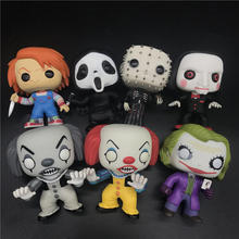 Pennywise character model CHUCKY /GHOSTFACE /PINHEAD /PENNYWISE /THE JOKER/BILLY Collection of gifts No box