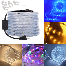 220V Neon Strip Led Rope Light 360 Round Two Wire Waterproof RGB/Warm White/Red/Blue/White/Yellow 1m 10m 20m 50m 100m