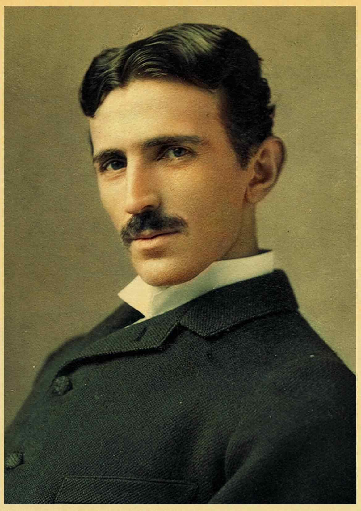 famous scientists nikola tesla retro poster home furnishing decoration kraft game poster drawing painting wall stickers 42x30cm