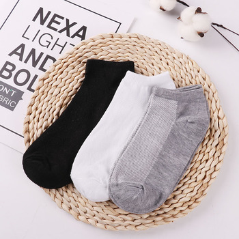10Pcs=5Pair Solid Mesh Men's Socks Invisible Ankle Socks Men Summer Breathable Thin Male Boat Socks HOT SALE 2019 Wholesale