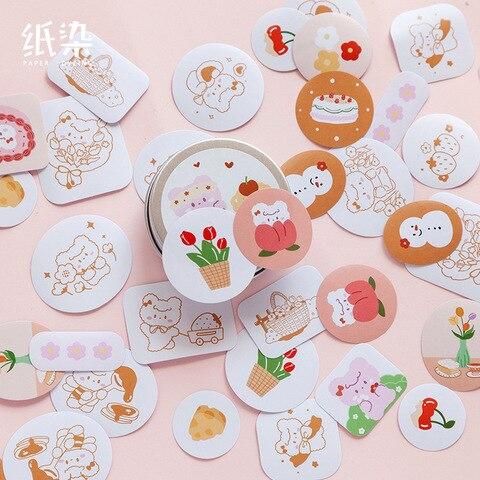 20 jogos lote kawaii papelaria adesivos bonito dos desenhos animados ilustracao diario decorativo movel adesivos