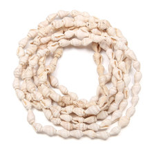 Fashion Natural Conch Shells Long Necklace Aquarium Decoration Home Decor 3 Colors 6-9mm Seashells for DIY Crafts 150cm 185pcs