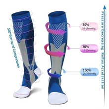 44 Styles Men Women Compression Socks Fit For Sports Black compression