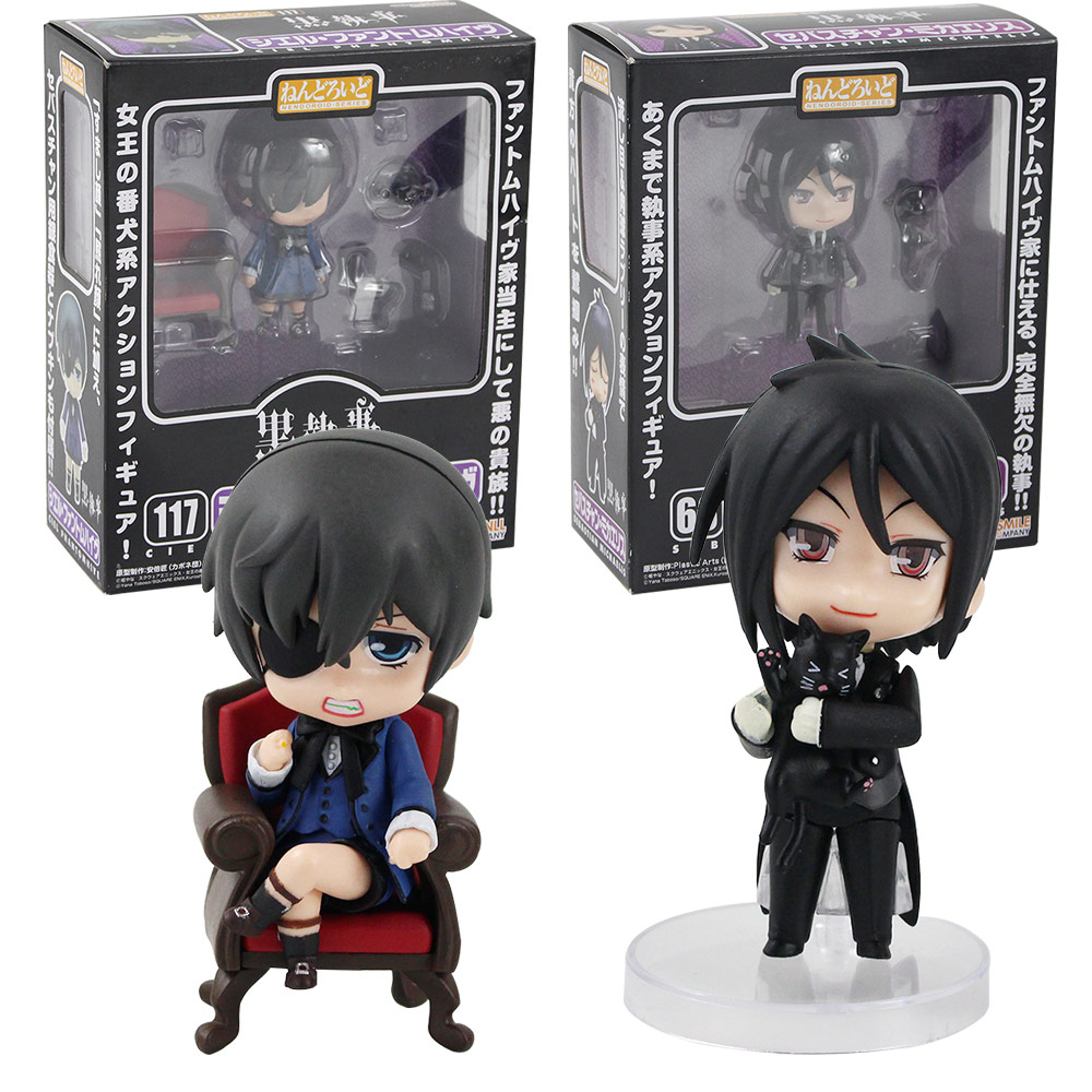 Nendoroid 68 Anime Black Butler Sebastian Michaelis PVC Figure Toy Gift IN  Box