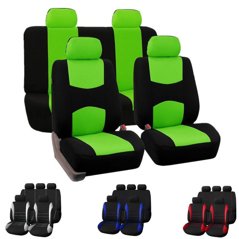 Универсальные чехлы для автомобильных сидений, аксессуары для интерьера, подходит для большинства брендов, чехлы для автомобильных сидений, 9 цветов|Чехлы на автомобильные сиденья|   | АлиЭкспресс