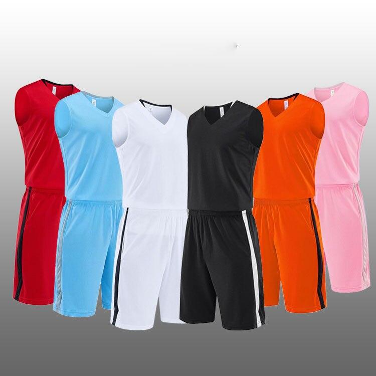 Shorts de Basquete em Branco para Mulheres dos Homens Terno de Treinamento do Jogo de Basquete Uniforme da Equipe sem Mangas Camisa Treino Esportivo Personalizado &