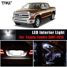 TPKE 12Pcs Auto Zubehör Innen Weiß Led lampen Kit Für 2007 2015 Toyota Tundra T10 31MM karte Dome Trunk Lampe