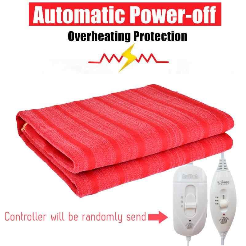 Mudah Dicuci Selimut Listrik 110 V-220 V Tahan Air Suhu Adjustable Hangat Pemanas Tempat Tidur USB Bantalan Pemanas Air Hangat Mat Double single
