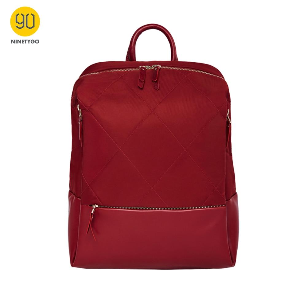 NINETYGO 90FUN Fashion Diamond Lattice Backpack 14 Inch Laptop Bags For Women Girls Ladies For School College Travel Trip