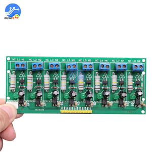 Image 4 - AC 220V MCU TTL Level 8 Channel Optocoupler Isolation Testing Board Isolated Detection Tester Module PLC Processors 8 Channel