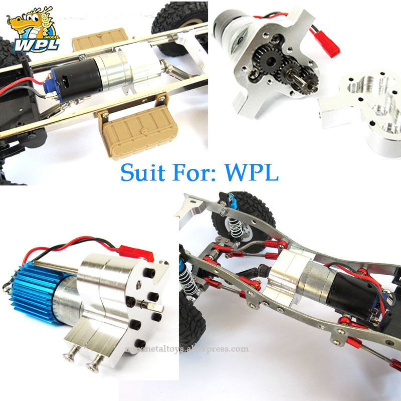 WPL B14 B36 C14 Four-wheel Drive Six-drive Army GASS66 Metal Transfer Case Accessories DIY Upgrade Modified Model Toys