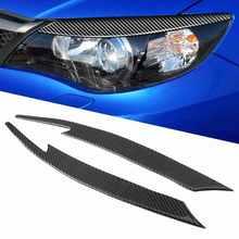 1 paar Carbon Fiber Augenlider Aufkleber Scheinwerfer Augenbraue Aufkleber Abdeckung Fit für Subaru Impreza WRX STI 2008 2009 2010 2011