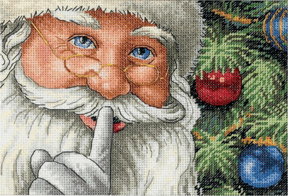 MM   Lovely Counted Cross Stitch Kit Santa's Secret Christmas Father Santa Gift Gifts dim 08799