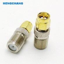 цена на F Type Female Jack to SMA male Plug Straight RF Coax Adapter F connector to sma Convertor 10pcs/lot