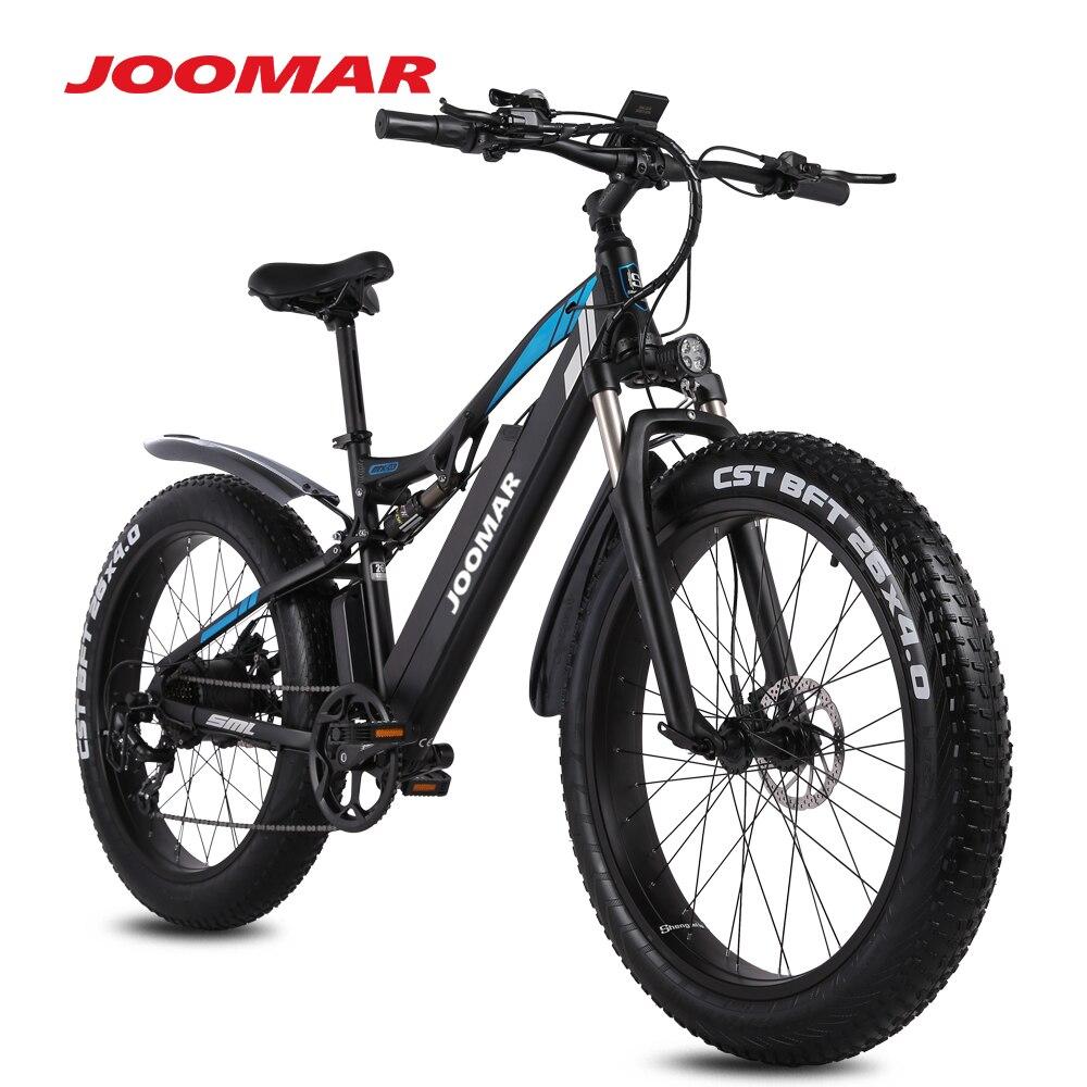 Электрический велосипед JOOMAR на толстых покрышках 1000 Вт 4,0 MX03 Plus, электровелосипед 48 в 17 Ач, горный велосипед, сноубайк, спортивные велосипеды...