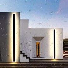 Aplique de pared Led para porche, lámpara de estilo minimalista, resistente al agua IP65, lineal, para edificio, Hotel, Villa, Outoor, iluminación