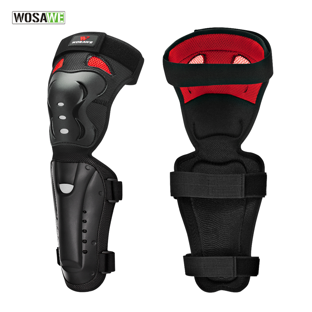 WOSAWE Bicycle MTB Protective Knee Pads Elbow Guards Off-Road Motocross Protection Gear Motorcycle Ski Snowboard Knee Protector