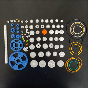 Plastic Gears Set DIY Assembly Toy Teeth Belt Worm Band Wheel Sector Crown Double shaft layer Helicopter Car Parts Dropshipping(China)
