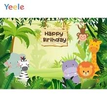 Yeele Jungle Forest Wild Animal Safari Party Backdrop Baby Birthday Photography Background For Photo Studio Custom Photophone