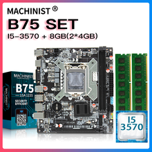 B75 настольная материнская плата LGA 1155 комплект с intel core i5-3570 процессор и DDR3 лицевая сторона 8 Гб (2*4 Гб) Оперативная память памяти USB3.0 X7-V124