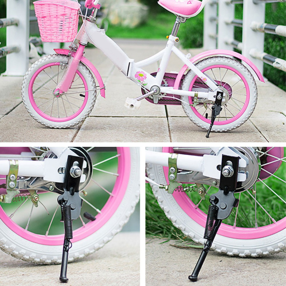 Children Bike Side Kickstand Foot Bicycle Parking Stand 12-20 SupportS Inch V6N1