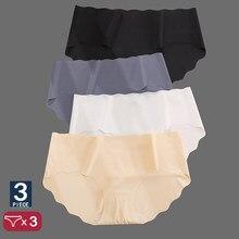 3 unids/set sin las mujeres Pantys de talle bajo de calzoncillos para GirlsLingerie Sexy ropa interior mujer cómoda M-XL