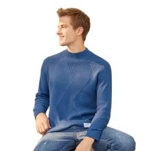SEMIR demi-cou pull hommes blanc chandail paresseux style 2019 hiver nouveau homme coréen épaissir haut tricoté pull mâle