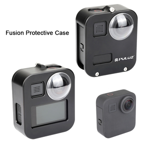 Image 4 - PULUZ Housing Shell Case Cover CNC Aluminum Alloy Protective Cage For GoPro Max &  Lens cap