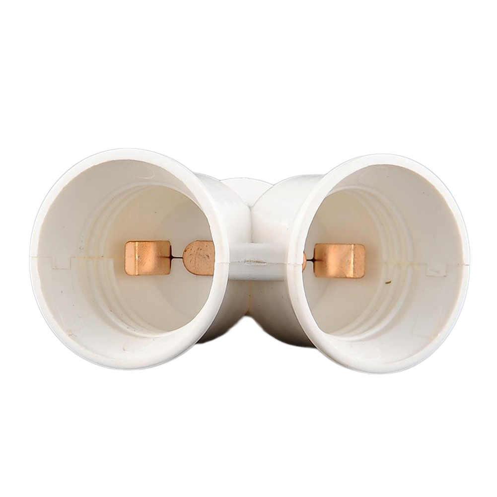 E27 сплиттер на 2 E27 светодиодный галогенный светильник Лампа адаптер конвертер винтовой разъем