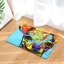 Oil Painting Mats Dog Pattern Print Doormat for Bathroom Kitchen Entrance Rugs Home Decor Anti Slip Floor Carpet 40x60 50x80cm doormat carpets chicken print mats floor kitchen bathroom rugs
