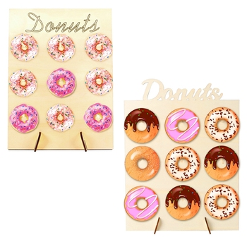 Wooden Donut Wall Stand Donut Party Decoration Doughnut Holder Bride Wedding Party Decor Birthday Party Supplies Baby Shower wooden wall holds donut boards stand hanging donuts table wedding decoration accessories baby shower kids birthday party decor