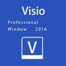 Bocado profissional da chave 2016 de microsoft visio 32/64 para a vitória