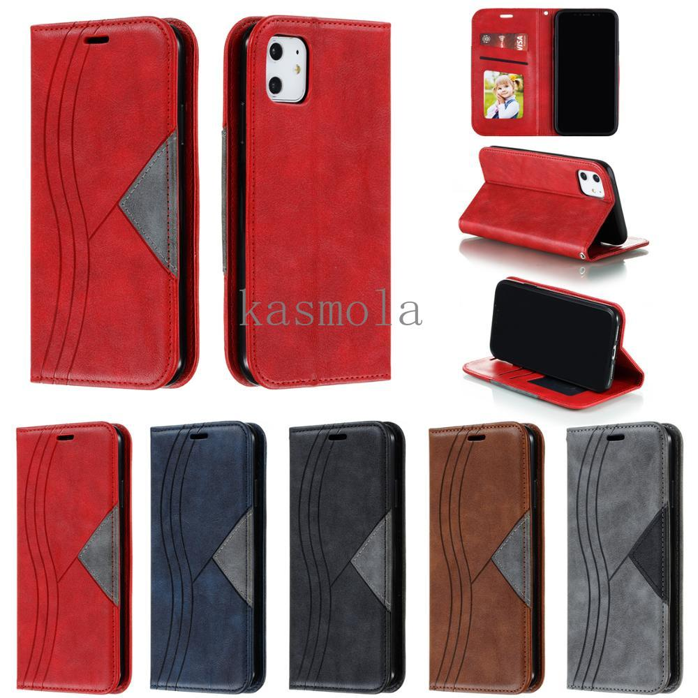 Flip Leather Wallet <font><b>Cases</b></font> For iPhone 11pro max X XS XR Magnetic <font><b>card</b></font> cover For <font><b>iPhone6</b></font> 6S 7 8 Plus PU Leather shockproof Cover image
