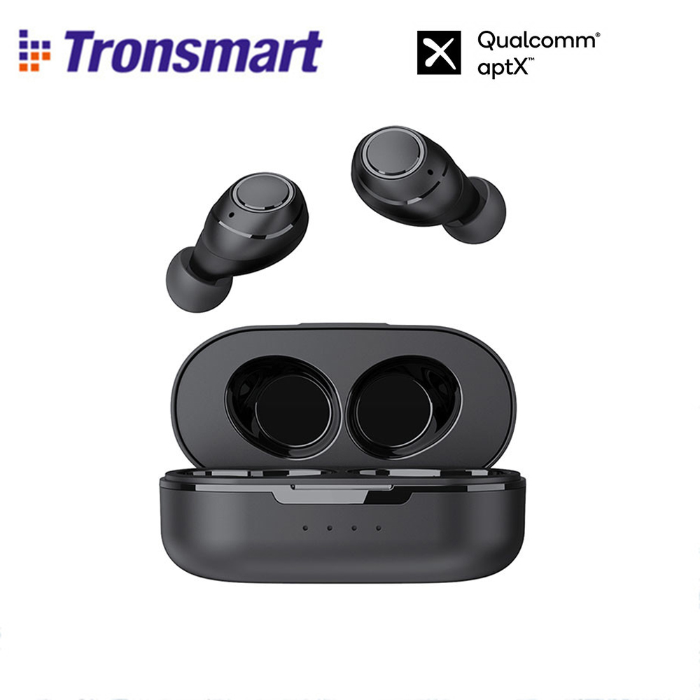 Tronsmart-auriculares Onyx Free TWS, inalámbricos por Bluetooth 5,0, con micrófono, a prueba de agua IPX7, aptX, compatible con asistencia de voz