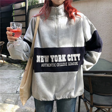 Sweatshirt women long fashion letter printing color clothes pullover Streetwear Turutleneck streetwear clothing