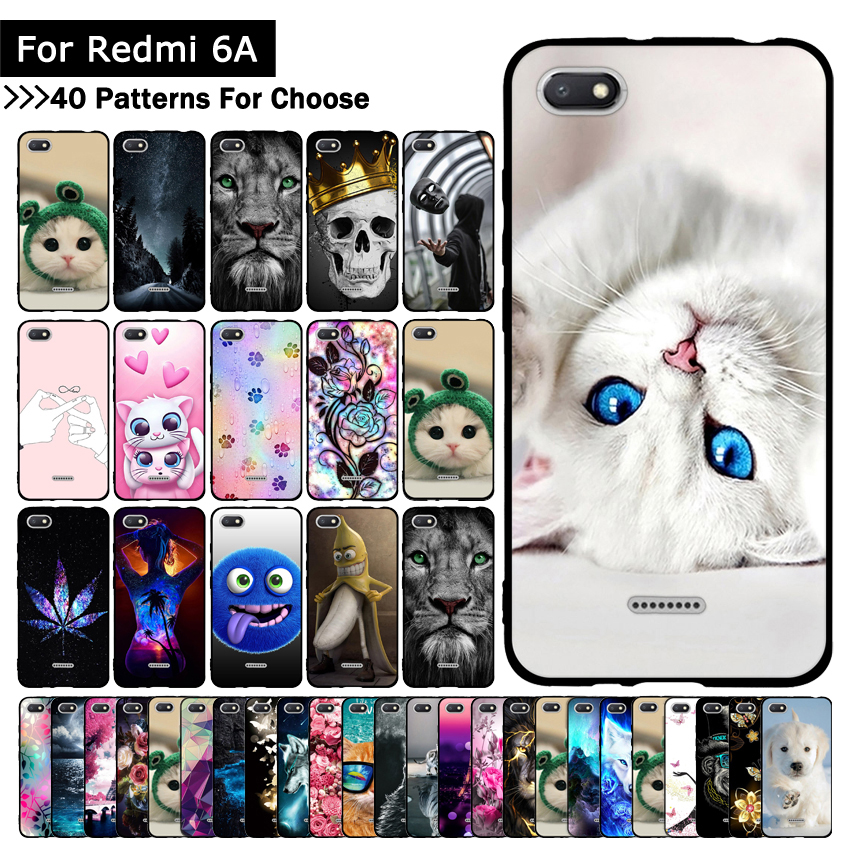 TPU Silicone Phone Case For Xiaomi Redmi 6A 6 A Cases Back Cover For Xiaomi Redmi6A Covers Phone Shells Fundas Protective Cases