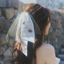 Романтическая свадебная фата короткая Фата с расческой Новое