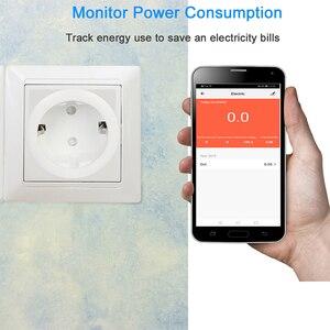 Image 3 - Mini 16A UE Spina con Presa di Alimentazione del Monitor Presa Wifi Intelligente Funziona con Google Casa Alexa IFTTT Controllo Vocale