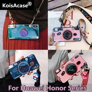 Чехол koisa в стиле ретро с Blu-Ray камерой, мягкий чехол для телефона Honor 7C 7X 7S 8X 8C Honor 9 10 Lite V9 V10 Note10, чехол