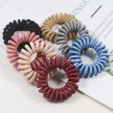 Random Color Cute Candy Telephone Line Rubber Elastic Hair Accessories Styling Tools Headwear drop shipping unique toilet style land line telephone random color