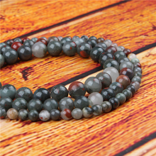 African Snow Natural Stone Bead Round Loose Spaced Beads 15 Inch Strand 4/6/8/10/12mm For Jewelry Making DIY Bracelet