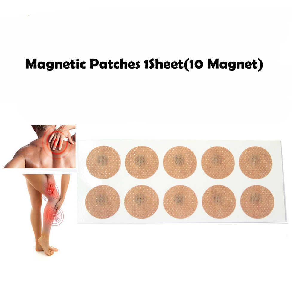 1 ورقة (10 المغناطيس) المغناطيسي بقع الألم الإغاثة الجسم الصحية المغناطيس العلاج الطبيعي لتوتنهام Hyerplasia الخشب عودة الخصر