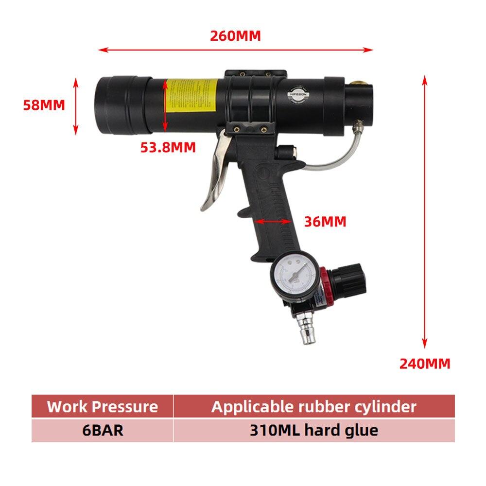 Adjustable Hard Applicator Pneumatic HIFESON Gun Air Rubber 310ml Toolbox Caulking Glue Sealant Glass Gun HIFESON Glue Gun