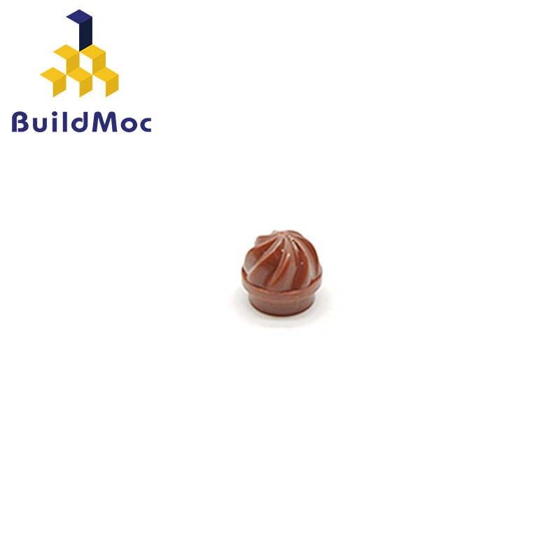 Buildmoc compatível para lego 15470 placa redonda 1x1 com redemoinho superior blocos de construção peças diy educacional presente criativo brinquedos