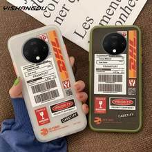 YISHANGOU Telefon Fall Für One Plus 6T 7T Matte DHL Post Label Muster Weichen Stoßfest Fall Abdeckung Für onePlus 7T 7 Pro 6T 6