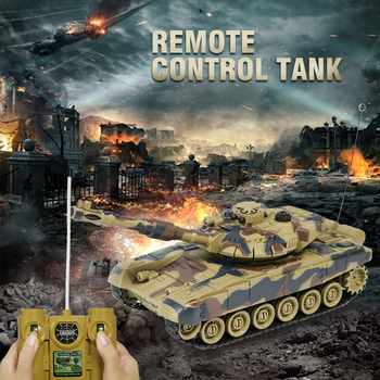 цена на RC Tank 1/28 Remote Control Toys Battle RC Tank T90 Automatic Presentation Tanks Via Musical scal Rc Tanks For Kids RTR Gifts