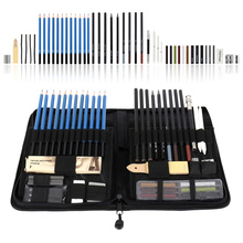 48pcs Sketch Pencil Full Set Professional Sketching Drawing Kit Artist Painting Sketching Wood Drawing Pen Beginner Student
