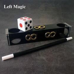 Túnel de dados jumbo truques mágicos dados manchas mudança no túnel magia mágico estágio ilusão truque adereços engraçado mentalismo