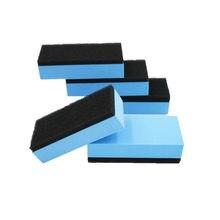 10 almofadas cerâmicas do aplicador do revestimento da cera nano do vidro da esponja de eva do revestimento do carro dos pces 7.5*5*1.5cm